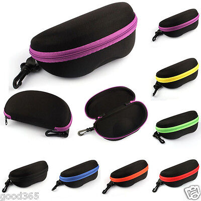 5PC Portable Carabiner Eye Glasses Sunglasses Hard Case/Bag Protector Box Holder