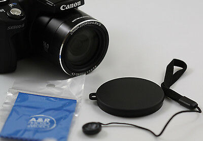 Front Lens Cap Cover For Canon SX500 IS SX510 SX520 SX530 Camera  SX420 IS 54