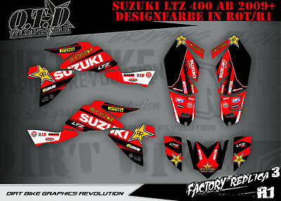 Scrub Dekor Kit Atv Suzuki Ltz 400 2009-2018 Graphic Kit Factory Replica 3 B