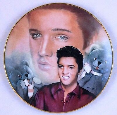 The Elvis Presley Hit Parade Collection # 6 Teddy Bear Collectors Plate PL-01