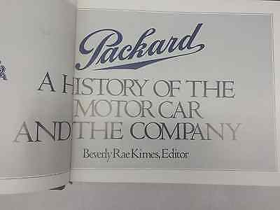 *First Edition* Packard a History of the Motor Car and the Company Book