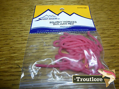 Spirit River Squirmy Wormies San Juan Red Worm Body - New Fly Tying Materials