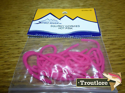 Spirit River Squirmy Wormies Hot Pink Worm Body - New Fly Tying Materials