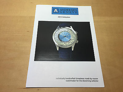 Press Release ANDERSEN GENEVE - 2015 Collection - English - For Collectors