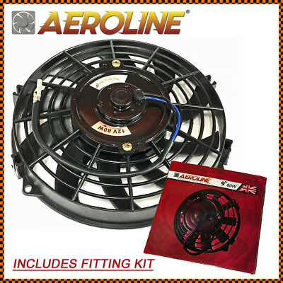 "9"" 80w 12v Aeroline® Electric Radiator Cooling Fan Fits CLASSIC MINI"