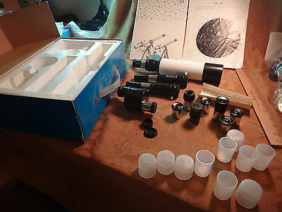 """Large Lot Of Telescope Parts/Lenses/Eyepieces ~1"""" Diameter - Free S&H USA"""