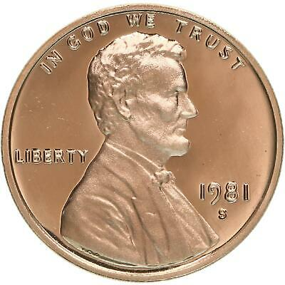 1981 S Lincoln Memorial Cent Type 1 Gem Deep Cameo Proof Penny
