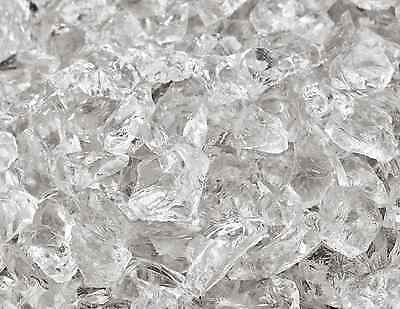 "10 Lbs of Fire Glass 3/8""-1/2"" Crushed Ice Fireglass for Fireplace or Fire Pit"