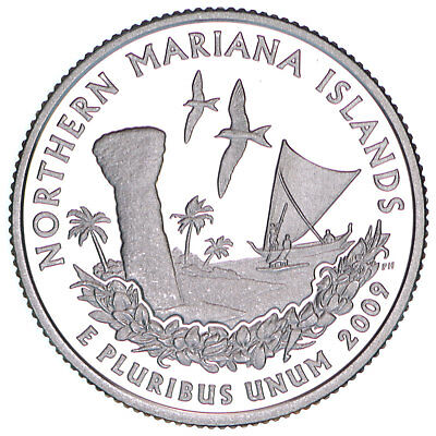 2009 S Territories Quarter Northern Mariana Islands Gem Proof DCam CN-Clad Coin