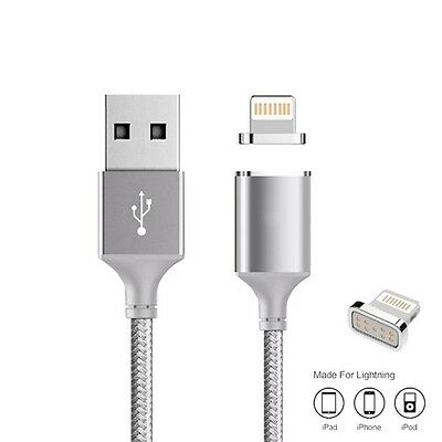 Kaluos Magnetic Lightning Data Charger USB Cable for iPhone 6S 6 5C 5S 7 SE iPad