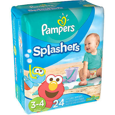 Pampers Splashers Disposable Swim Pants, Size 6