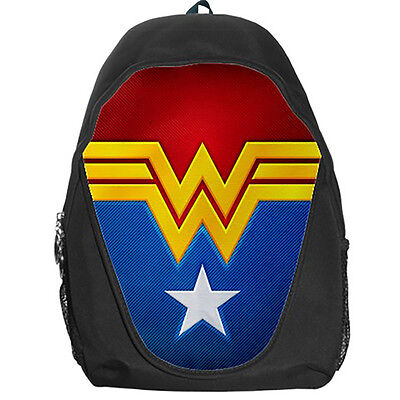 Wonder Woman Justice League Teen Kids Canvas School Backpack Bag Rucksack