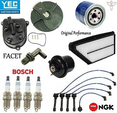 tune up kit filters cap rotor spark plugs wire for honda prelude 1997-2001