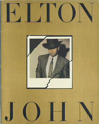 ELTON JOHN 1984 BREAKING HEARTS Tour Concert Program
