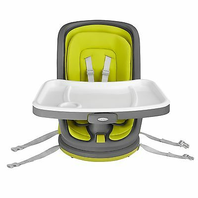 Graco Baby Feeding Swivi Swivel Seat Booster In Key Lime - From Birth To 4 Years