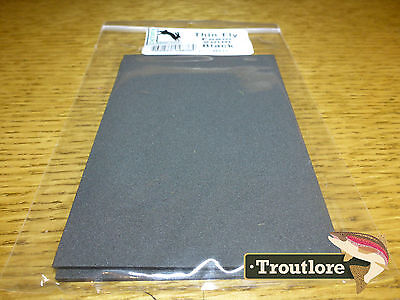 2Mm Thin Fly Tying Foam Black 2-Pack - New Terrestrial Fly Tying Materials