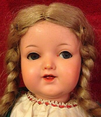 "RARE Antique 15"" Kammer & Reinhardt 1728/4 Celluloid Doll - Turtle Mark Germany"