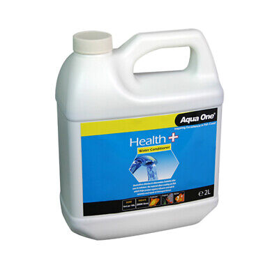 Aqua One Aquarium Fish Health Plus Aloe Water Conditioner Dechlorinator 2L
