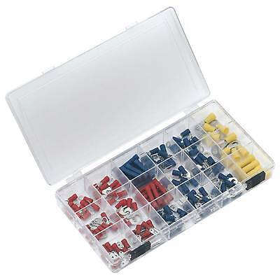 Sealey Assorted Red/Blue/Yellow Wiring/Crimping Terminal Kit/Set- 150pc - AK8805