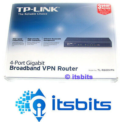 TP-LINK TL-R600VPN SAFESTREAM GIGABIT BROADBAND VPN ROUTER 4x  PORTS 20x  IPSEC