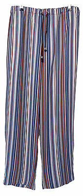 Blue Stripe Renaissance Pirate Medieval Cotton Trousers Size L 36-38W LARP