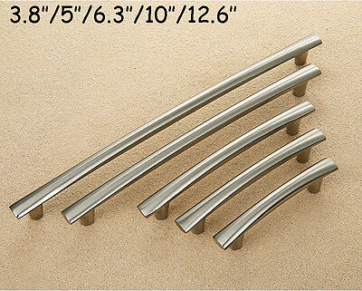 Brushed Stainless Steel T bar Kitchen Cabinet Door Handles Drawer Pull Knob