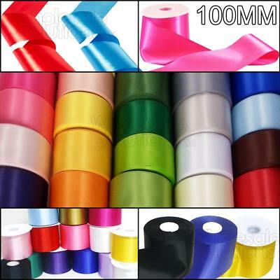 **Buy-1-Get-1-Free** 25M Reels of 100mm Satin Ribbon  20 Colours Sash