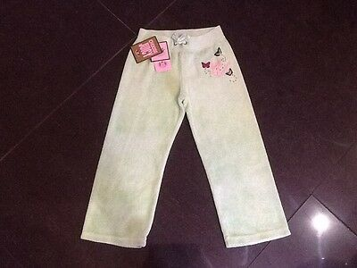 NWT Juicy Couture New & Gen. Girls Age 4 Green Cotton Towelling Pants & Logo