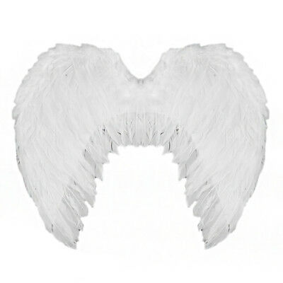 White Angel Wings Fairy Hen Party Adults Fancy Dress Feather Christmas Nativity