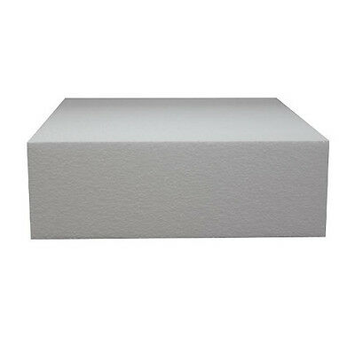 12 Inch Square 4 Inch Deep Professional Straight Edge Cake Dummy