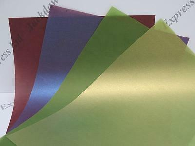 25 x Vellum Translucent Pearlescent 1-Sided Paper A4 100gsm Plum or Avocado