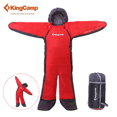 KingCamp Standing Free Walker S/M/L Wearable Sleeping Bag Camping Hiking Single