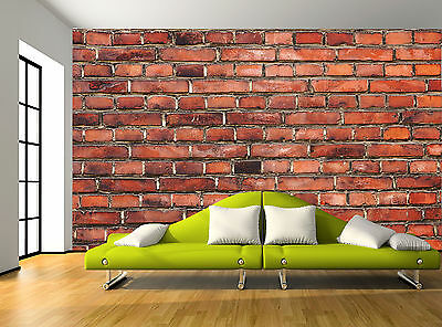 Old Brick Red Wall Mural Photo Wallpaper GIANT WALL DECOR