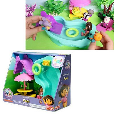 Dora Explorer Pool Playset Toy Gift Girls Figure Accessories Doll Fun Kids New