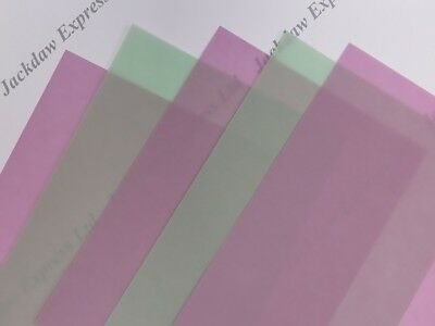 10 x Vellum Translucent Paper A4 200gsm Dusky Pink or Pastel Green Cardmaking