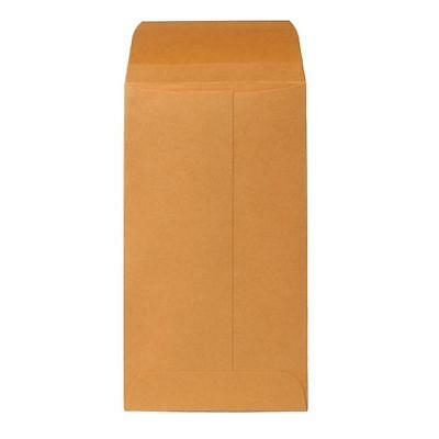 "Sparco Coin Envelopes, Gummed Flap, 28 lb., 3-3/8""x6"", Kraft 01363"