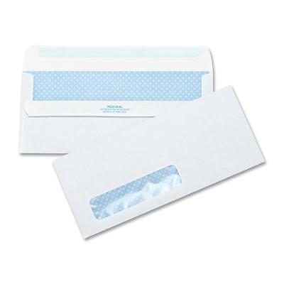 "Business Source Self-Seal Envelopes No.10 Std.Window 4-1/2""x9-1/2"" 500/BX WE"