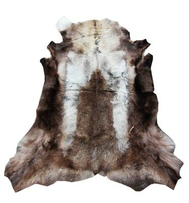 Natures Fleece Renntierfell out Lapland in light brown 130 x 100 cm Rug