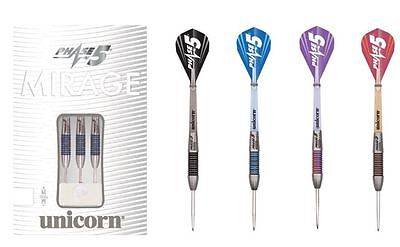 Unicorn Phase 5 Mirage Tungsten Steel Tip Darts - Phil Taylor - Full Range