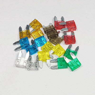 20 Piece Mini Blade Fuse Assorted Kit Mixed 5a 7.5a 10a 15a 20a 25a 30a Car Amp