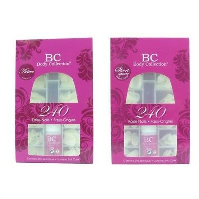 Body Collection Faux Ongles / Embouts - 240pk avec Colle