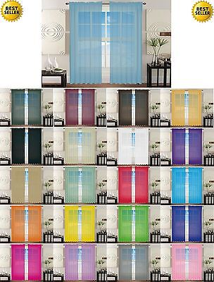 SHEER/ SCARF VALANCE DRAPES Voile Window Panel curtains 13 diff. colors SALE!!