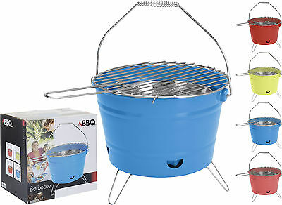 BBQ Portable Camping Glamping Garden Charcoal Barbecue Bucket Outdoor Cooking