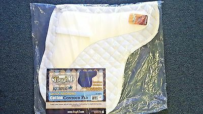 Tough-1 English EquiRoyal Quilted - White Cotton - Shock Absorbing Saddle Pad