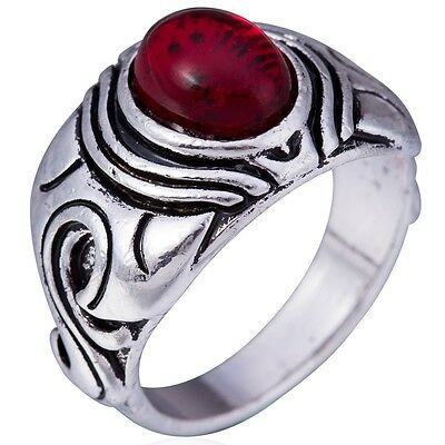 Size 7-15 Retro Vintage Red Stone Ring Cocktail Party Dragon Celtic Classical