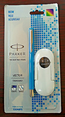 Parker Vector STANDARD  Fountain Pen [ Blue]- WITH 3 CARTRIDGES- FREE SHIPPING