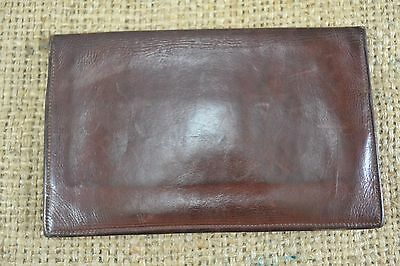 VINTAGE 1950s brown calf leather wallet Australian Made bifold