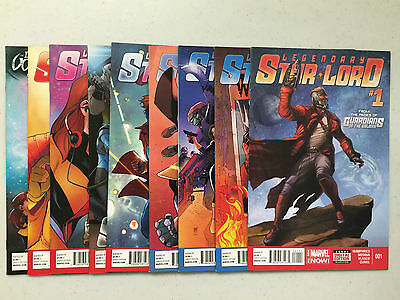 Legendary Star-Lord #1 2 3 4 5 6 7 8 9 Set Marvel Run Guardians of the Galaxy