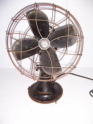 """Vintage Emerson Electric 12"""" Oscillating Fan Type 79646Aq Works!"""