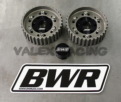 Blackworks Adjustable Cam Gears DOHC Black B16 B17 B18A B18B B18C B20 New Style!